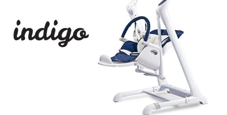 Caretero Indigo - krzesełko i huśtawka w jednym